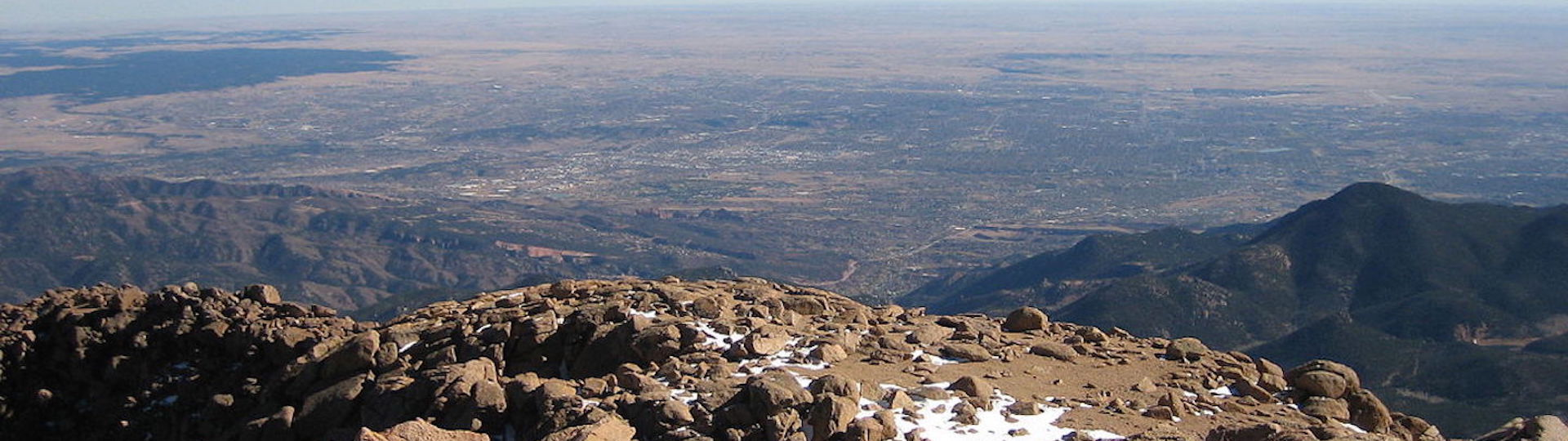 View from top of Pikes Peak