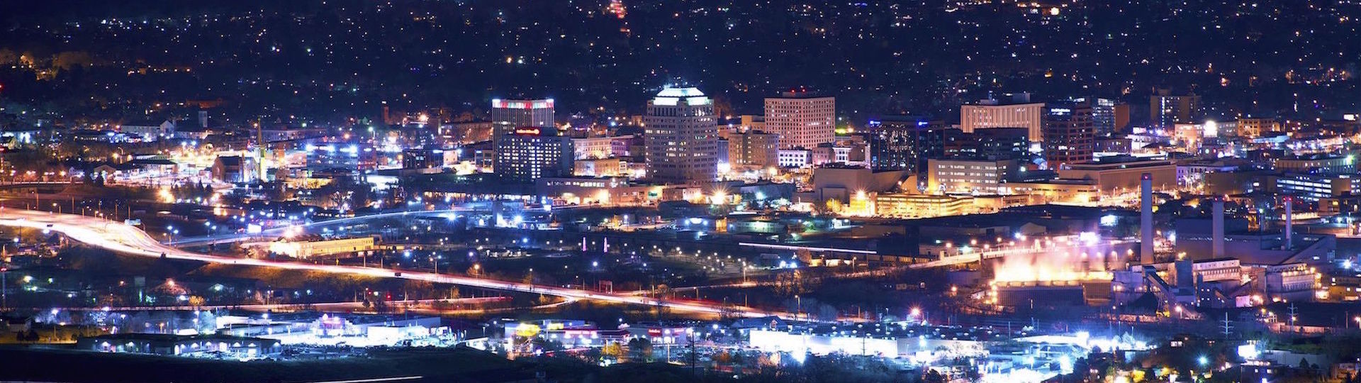 Downtown Colorado Springs at Night
